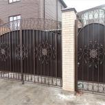 Ворота гаражные и приусадебные с калитками и элементами ковки, Курган