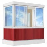 Балкон Provedal Алюминиевый 2400 П-образное, Курган