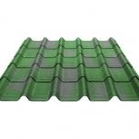 Черепица Ондувилла зеленый 3D 1060х400х3, Курган