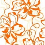 Плитка Декор Нефрит-керамика  400х250 Оранжевый, Курган