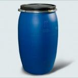 Бочка Тара пластиковая с крышкой на обруч 127 литр, Курган