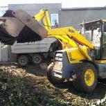 Уборка мусора фронтальным погрузчиком в Кургане, Курган