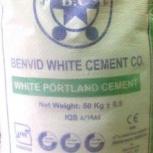 Цемент Benvid ЦЕМ I 52,5Н (ПЦБ 1-500 Д0) белый 50к, Курган