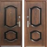 Металлическая дверь 550, Китай, 860*2050, орех, Курган